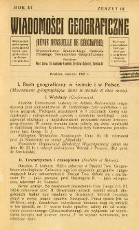 Wiadomości Geograficzne R. 3 z. 3 (1925)