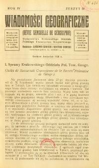 Wiadomości Geograficzne R. 4 z. 4 (1926)