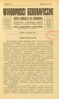 Wiadomości Geograficzne R. 4 z. 10 (1926)