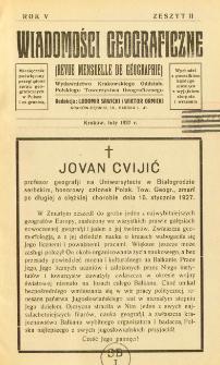 Wiadomości Geograficzne R. 5 z. 2 (1927)