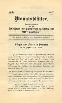 Monatsblätter Jhrg. 11, H. 1 (1897)