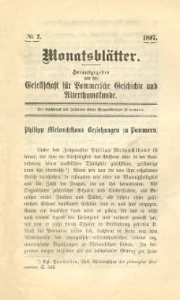 Monatsblätter Jhrg. 11, H. 2 (1897)