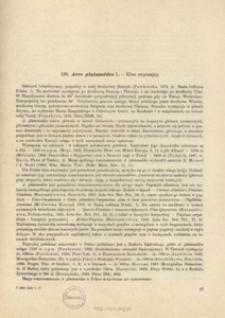 138. Acer platanoides L. - Klon zwyczajny