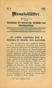 Monatsblätter Jhrg. 11, H. 6 (1897)