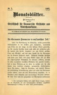 Monatsblätter Jhrg. 11, H. 7 (1897)