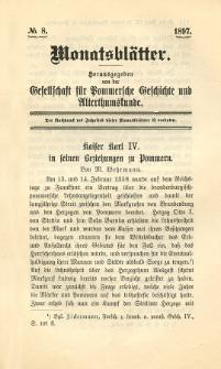 Monatsblätter Jhrg. 11, H. 8 (1897)