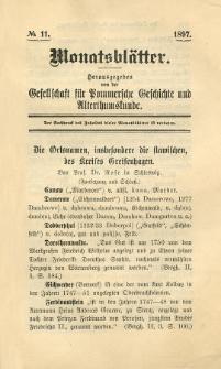 Monatsblätter Jhrg. 11, H. 11 (1897)