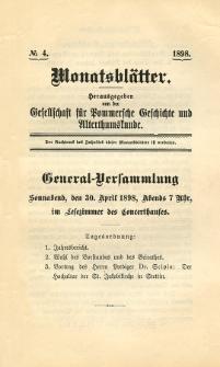 Monatsblätter Jhrg. 12, H. 4 (1898)