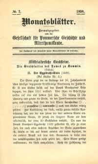Monatsblätter Jhrg. 12, H. 7 (1898)
