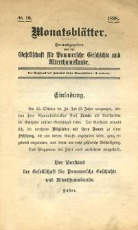 Monatsblätter Jhrg. 12, H. 10 (1898)