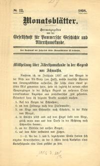 Monatsblätter Jhrg. 12, H. 12 (1898)