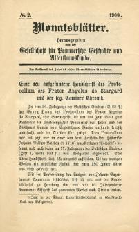 Monatsblätter Jhrg. 14, H. 2 (1900)