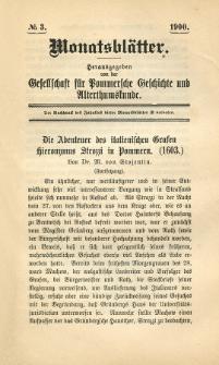 Monatsblätter Jhrg. 14, H. 3 (1900)