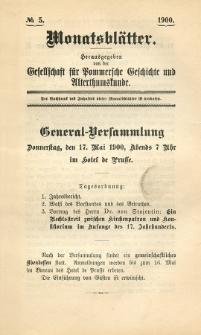 Monatsblätter Jhrg. 14, H. 5 (1900)