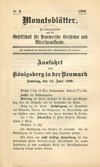 Monatsblätter Jhrg. 14, H. 6 (1900)