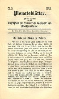 Monatsblätter Jhrg. 14, H. 8 (1900)