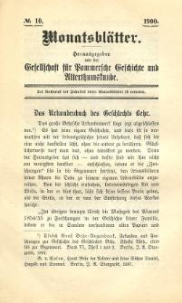 Monatsblätter Jhrg. 14, H. 10 (1900)