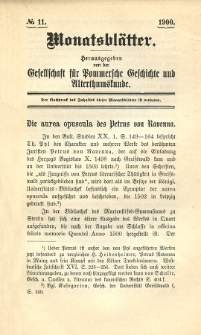 Monatsblätter Jhrg. 14, H. 11 (1900)