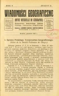 Wiadomości Geograficzne R. 5 z.10 (1927)