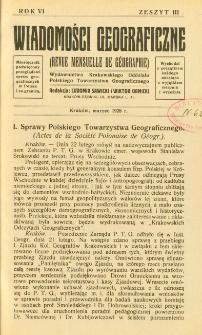 Wiadomości Geograficzne R. 6 z. 3 (1928)