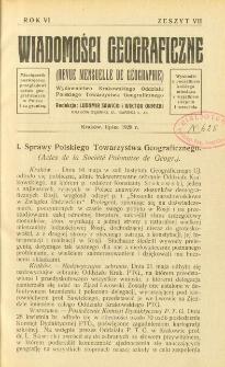 Wiadomości Geograficzne R. 6 z. 7 (1928)
