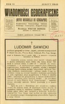 Wiadomości Geograficzne R. 6 z. 8-9 (1928)