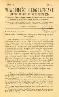 Wiadomości Geograficzne R. 9 z. 4 (1931)