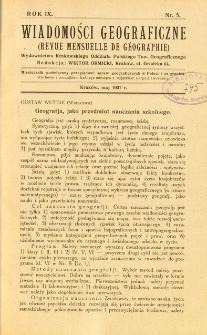 Wiadomości Geograficzne R. 9 z. 5 (1931)