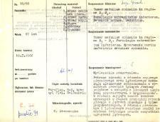File of histopathological evaluation of nervous system diseases (1966) - nr 18/66