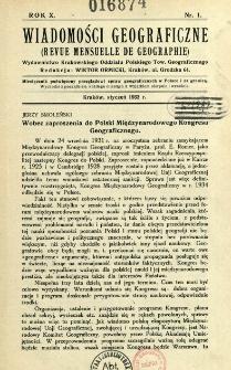 Wiadomości Geograficzne R. 10 z. 1 (1932)