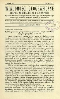 Wiadomości Geograficzne R. 10 z. 6-7 (1932)