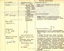 Kartoteka oceny histopatologicznej chorób układu nerwowego (1966) - opis nr 213//66