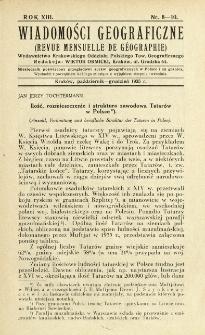 Wiadomości Geograficzne R. 13 z. 8-10 (1935)