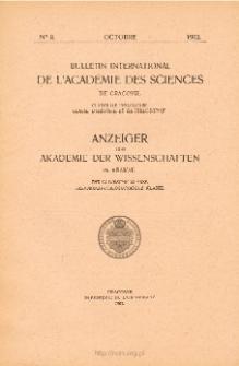 Anzeiger der Akademie der Wissenschaften in Krakau, Philologische Klasse, Historisch-Philosophische Klasse. No. 8 Octobre (1902)