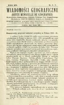 Wiadomości Geograficzne R. 14 z. 5-7 (1936)