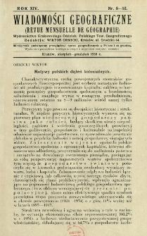 Wiadomości Geograficzne R. 14 z. 8-10 (1936)