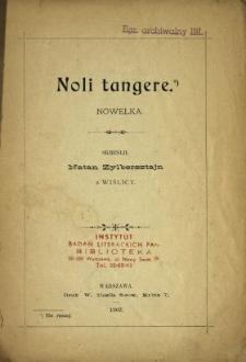 Noli tangere : nowelka