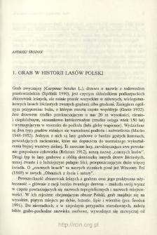 Grab w historii lasów Polski