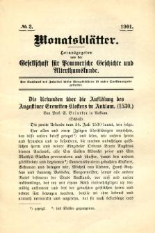 Monatsblätter Jhrg. 15, H. 2 (1901)