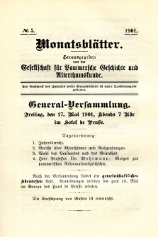 Monatsblätter Jhrg. 15, H. 5 (1901)