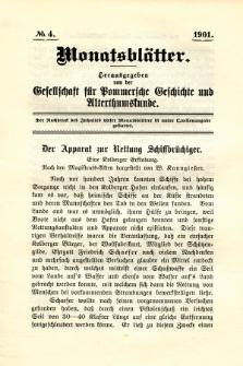 Monatsblätter Jhrg. 15, H. 4 (1901)