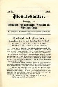 Monatsblätter Jhrg. 15, H. 6 (1901)