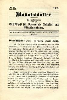 Monatsblätter Jhrg. 15, H. 10 (1901)