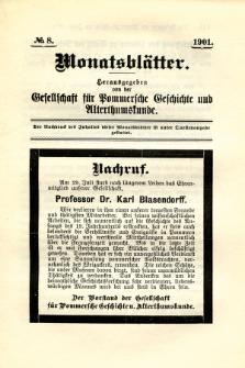 Monatsblätter Jhrg. 15, H. 8 (1901)