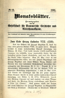 Monatsblätter Jhrg. 15, H. 12 (1901)