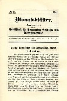 Monatsblätter Jhrg. 15, H. 11 (1901)