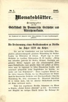 Monatsblätter Jhrg. 16, H. 1 (1902)