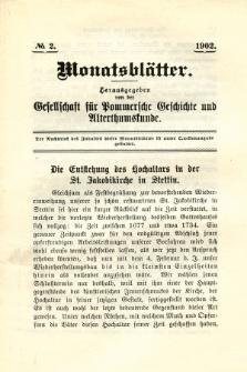 Monatsblätter Jhrg. 16, H. 2 (1902)