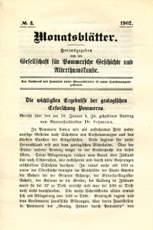 Monatsblätter Jhrg. 16, H. 3 (1902)