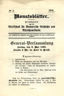 Monatsblätter Jhrg. 16, H. 5 (1902)